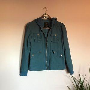 Teal fleece lined-jacket